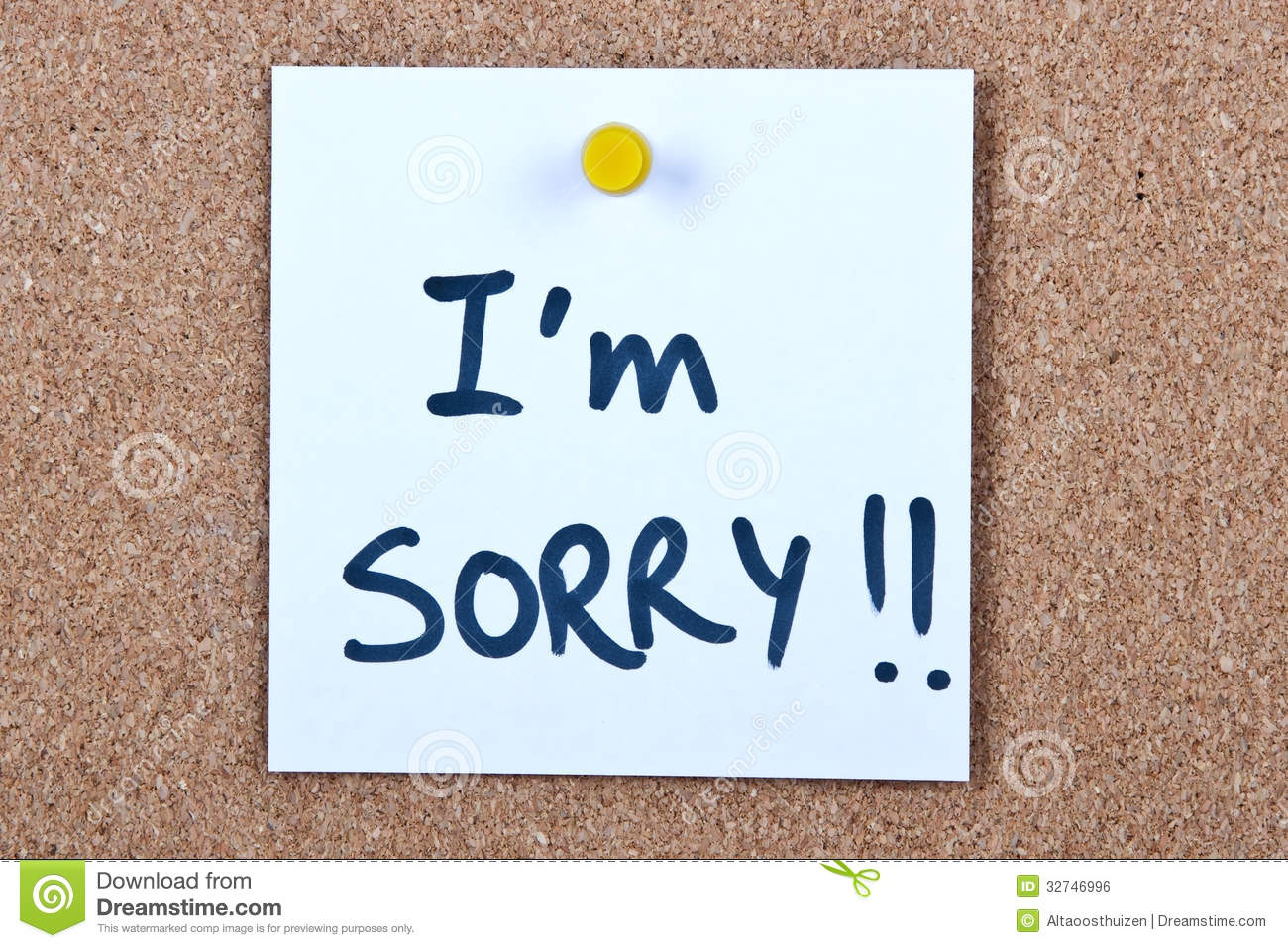post it note with i m sorry stock photo image of note attach