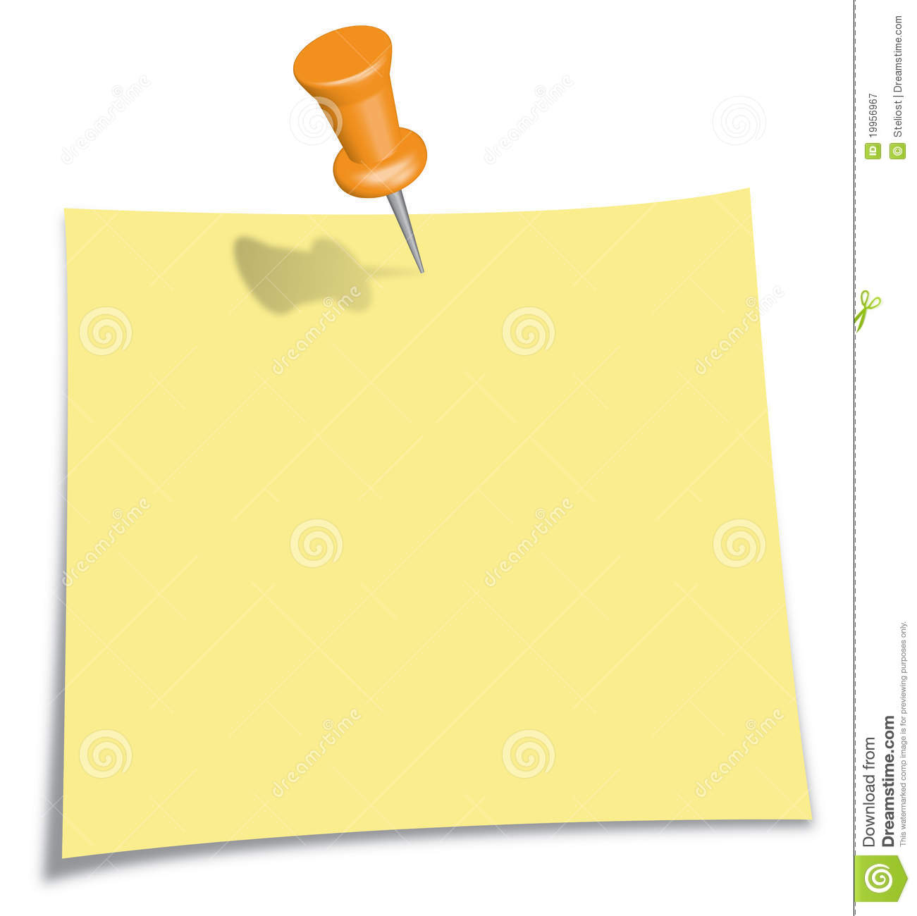 post it note with orange pin royalty free stock notepad clipart black and white notepad clipart drawing