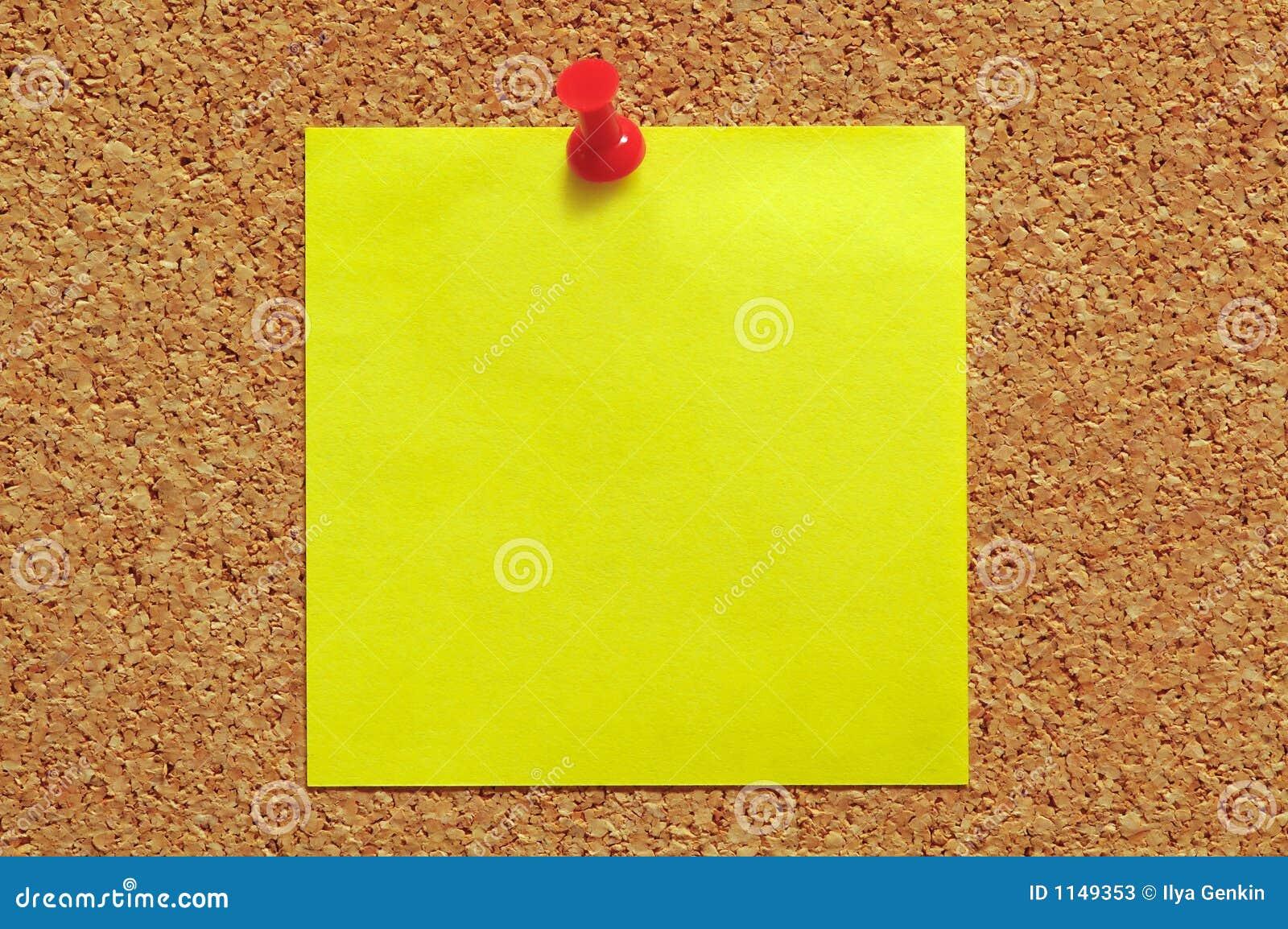 Blank Post-It Note on Pin Board (JPG)   OnlyGFX.com