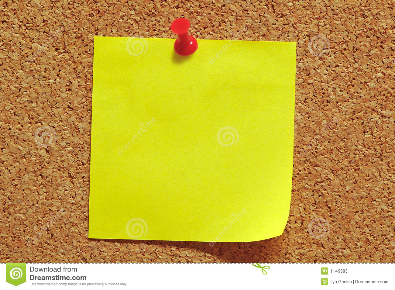 Post-It Note and Push Pin