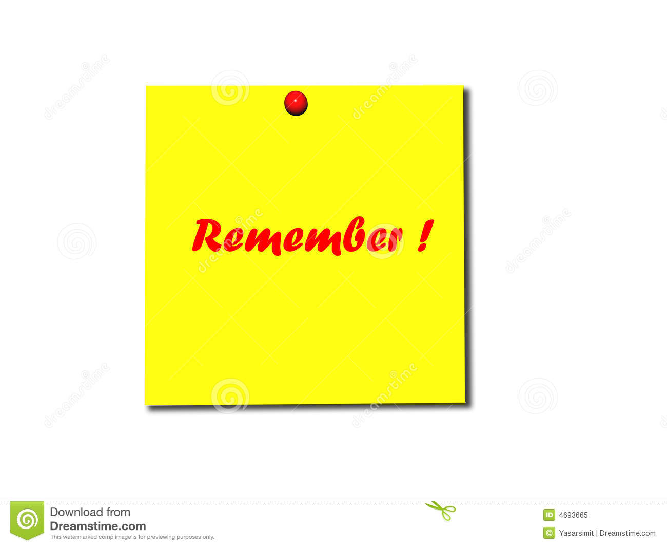 Remember Clipart Post it note remember Royalty