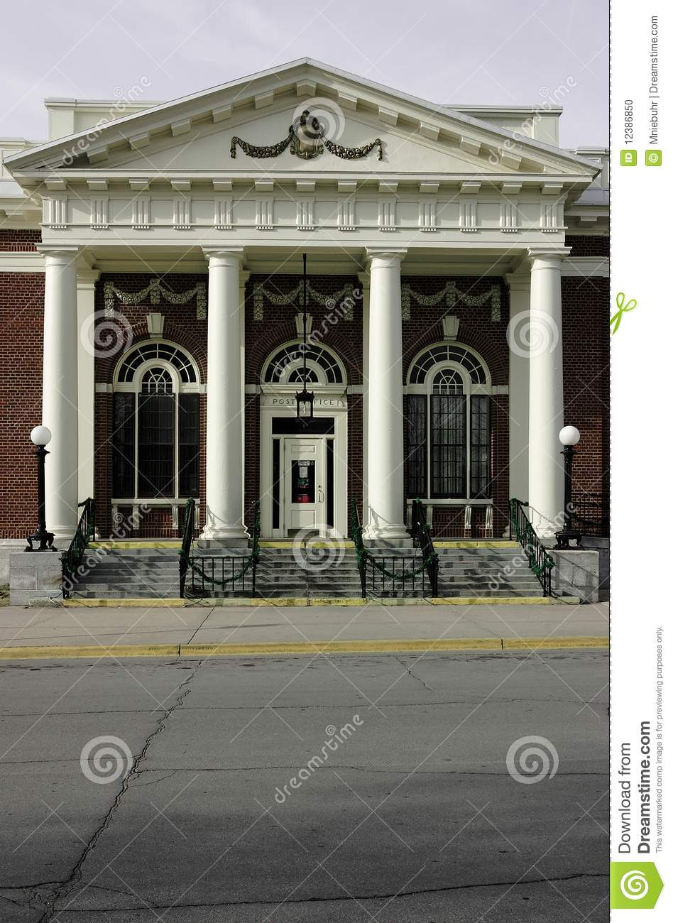 Post Office Building Main Street America Usa Stock
