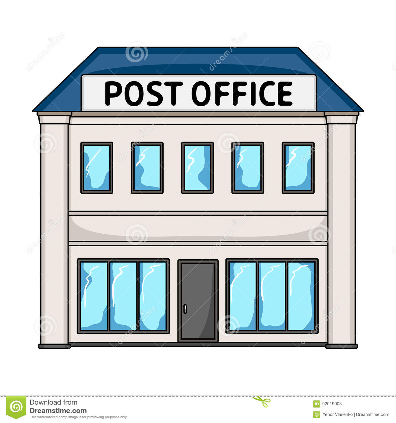 Post Office.Mail And Postman Single Icon In Cartoon Style