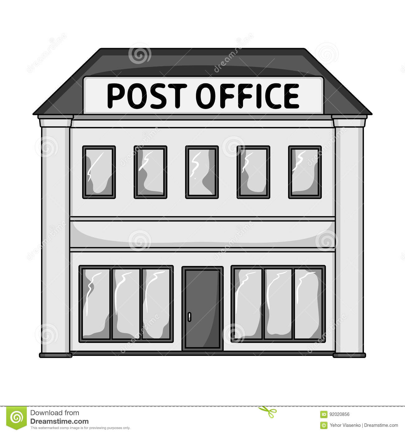 Post Office.Mail And Postman Single Icon In Monochrome