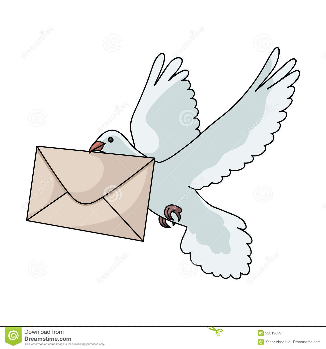 Post Pigeon.Mail And Postman Single Icon In Cartoon Style