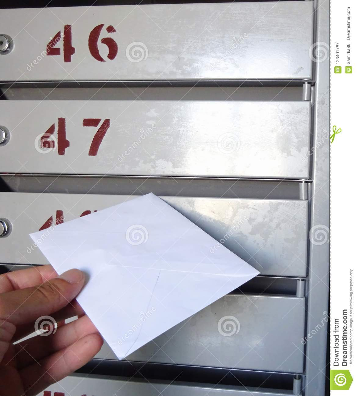 Post Postage Mail Letter Receiving And Delivery Mailbox Stock Image