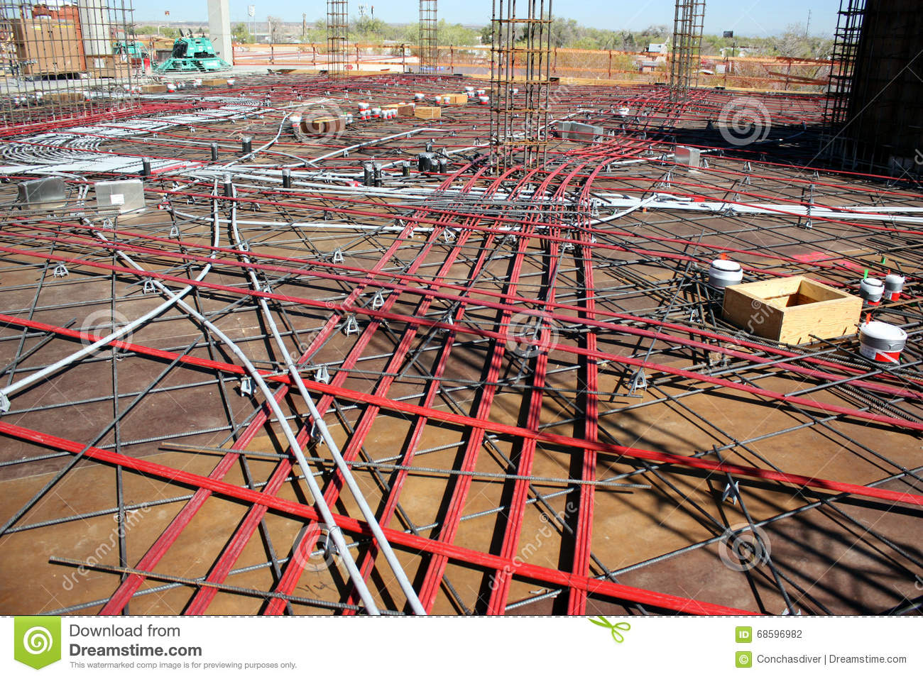 Post-Tension Cables stock photo  Image of formwork, tension - 68596982