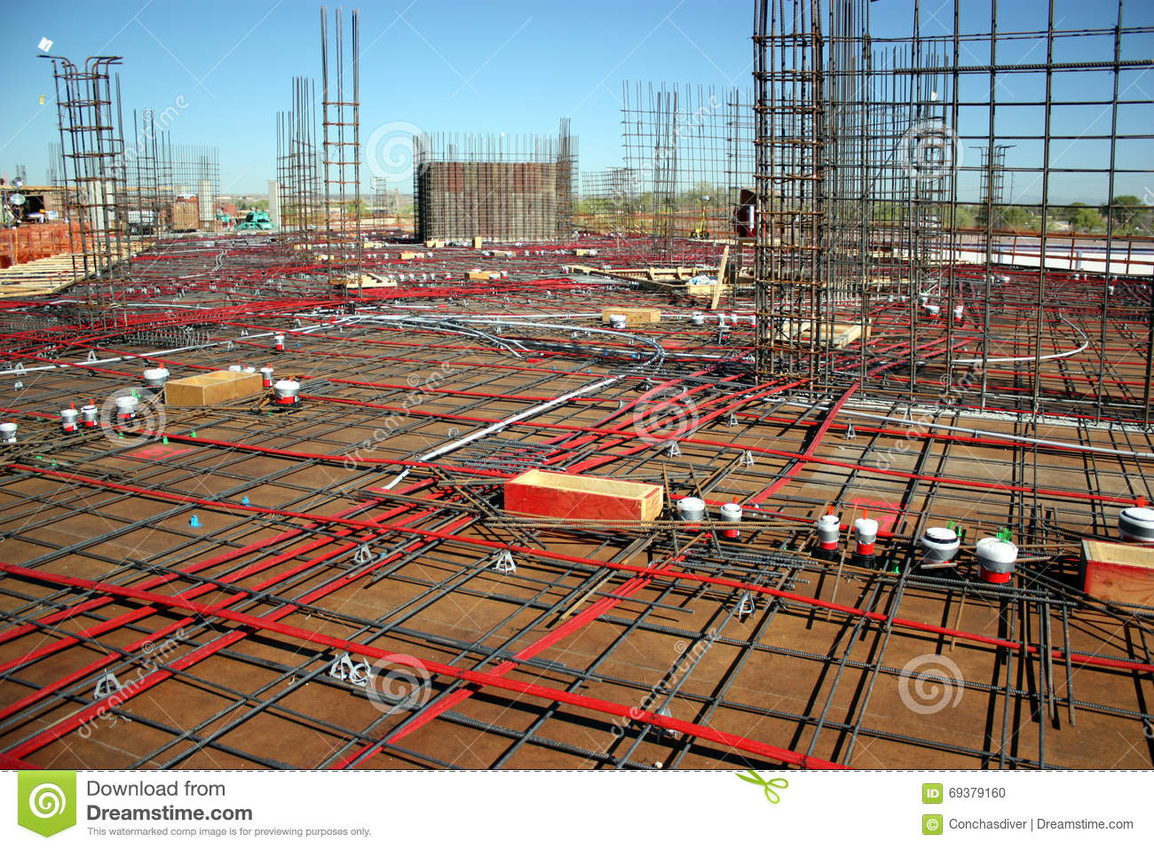 Post-Tension Concrete Formwork Stock Photo - Image of