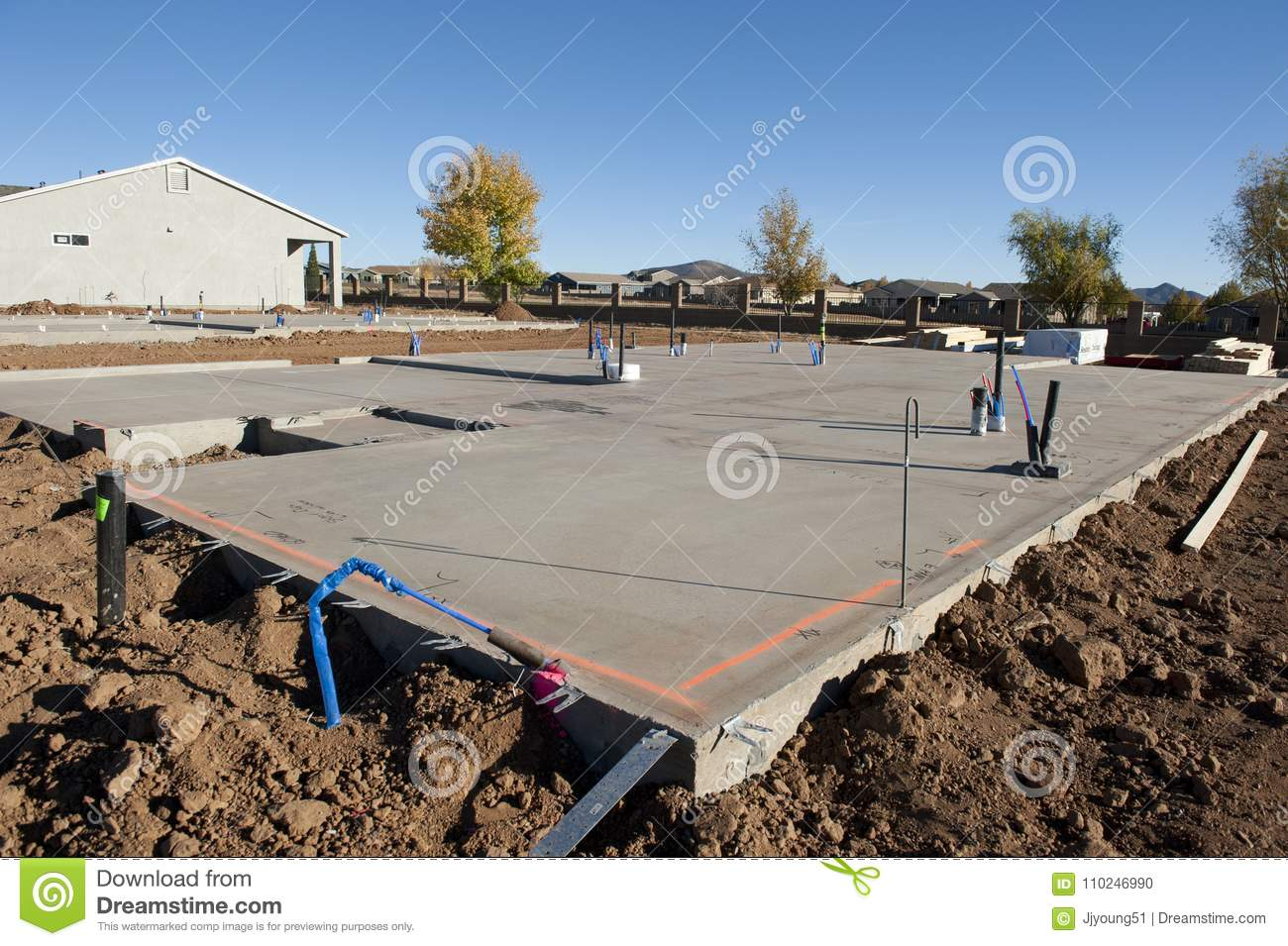 Post Tensioned Slab stock photo  Image of residential