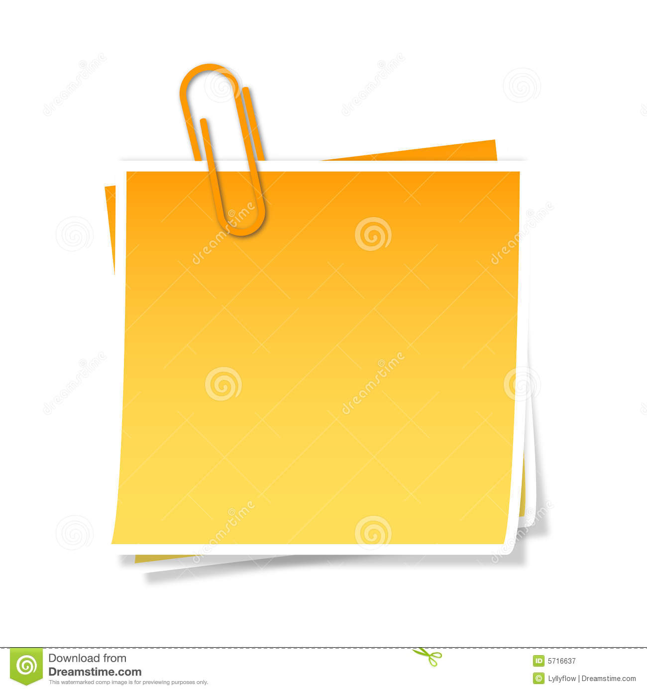 Post-it, Vector Royalty Free Stock Photography - Image: 5716637
