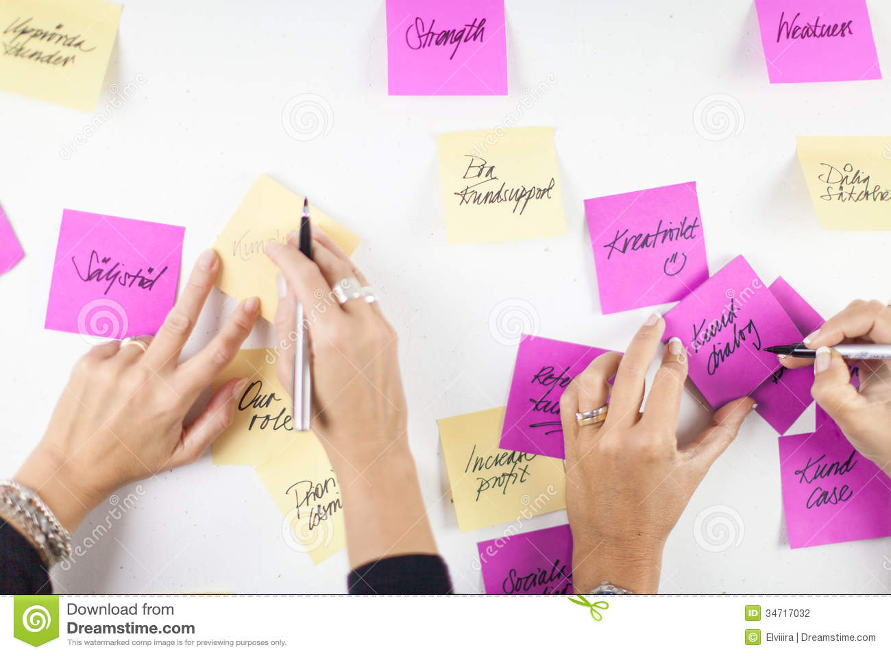 Post it Workshop Stock Photography Image 34717032