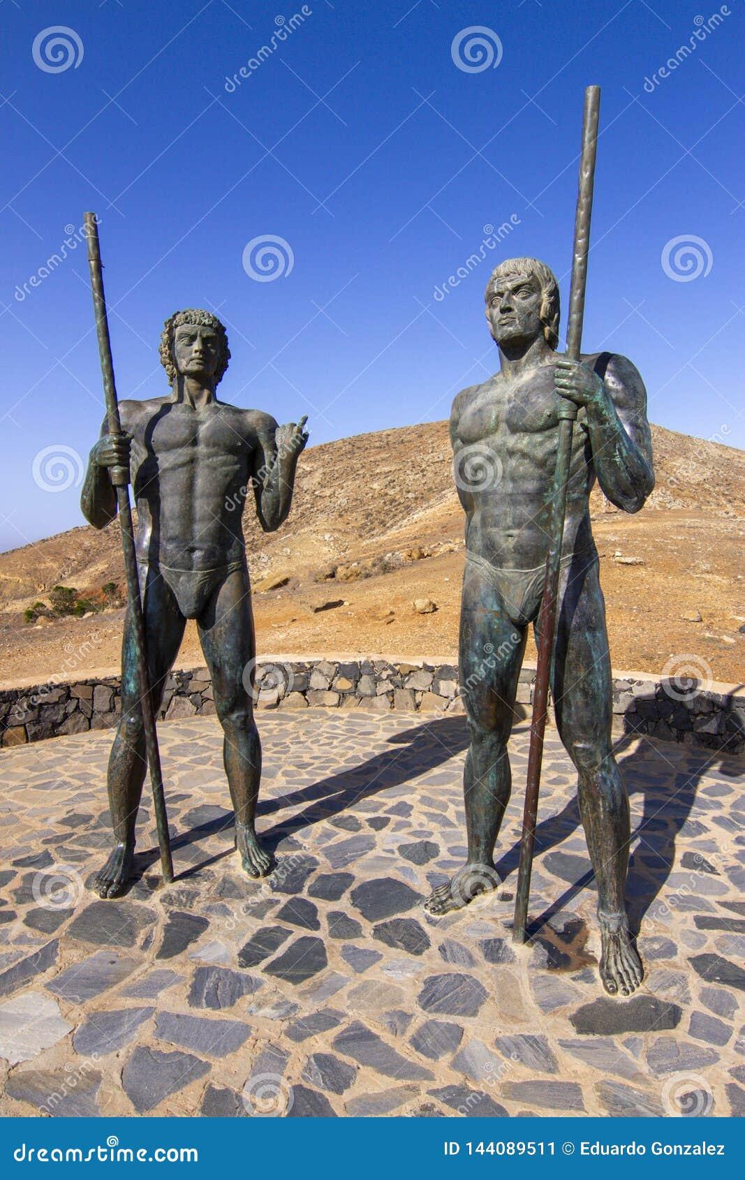 Postać i Ayose punkt widzenia przy Betancuria, Fuerteventura