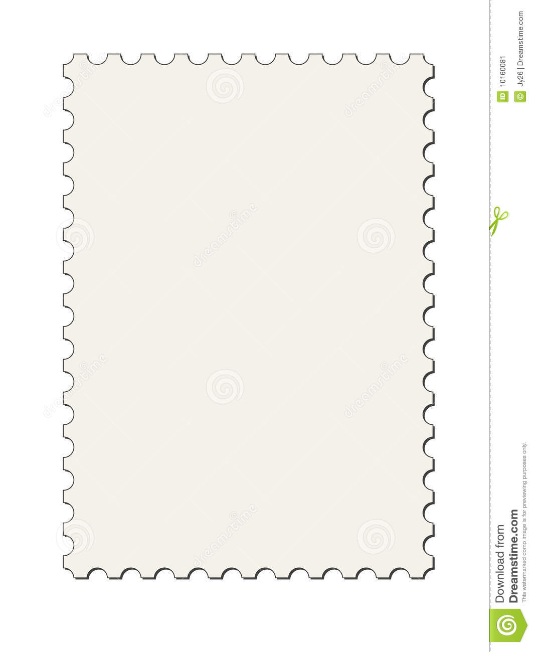 Portait Postage Stamp Border For Design