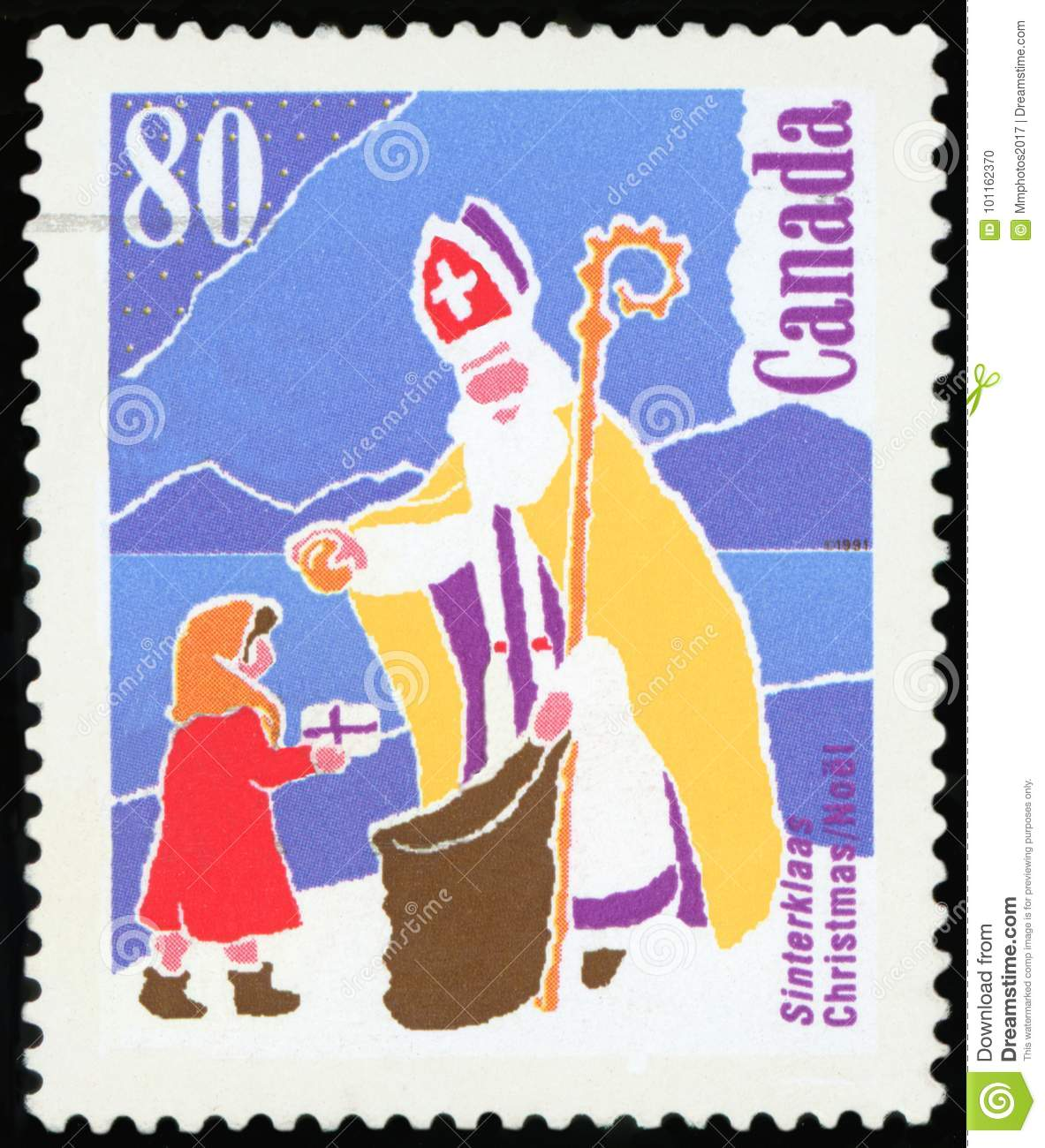 Postage Stamp Canada Editorial Image Image Of Gifts 101162370