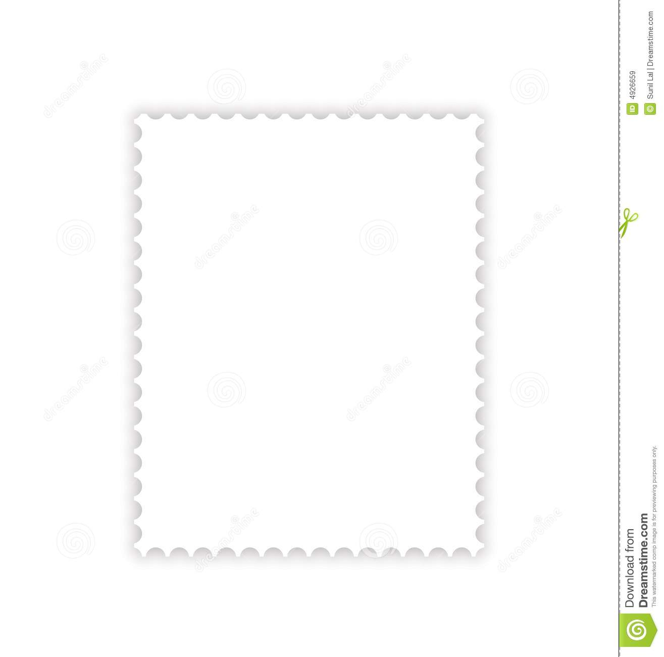 postage stamp drop shadow stock illustration  image of