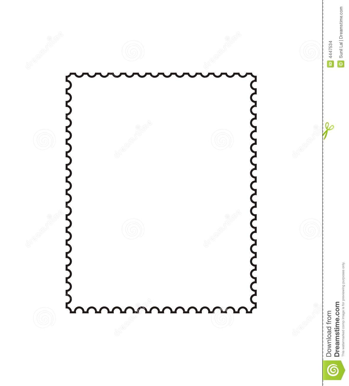 Postage Stamp Outline [vector] Stock Vector - Illustration ...