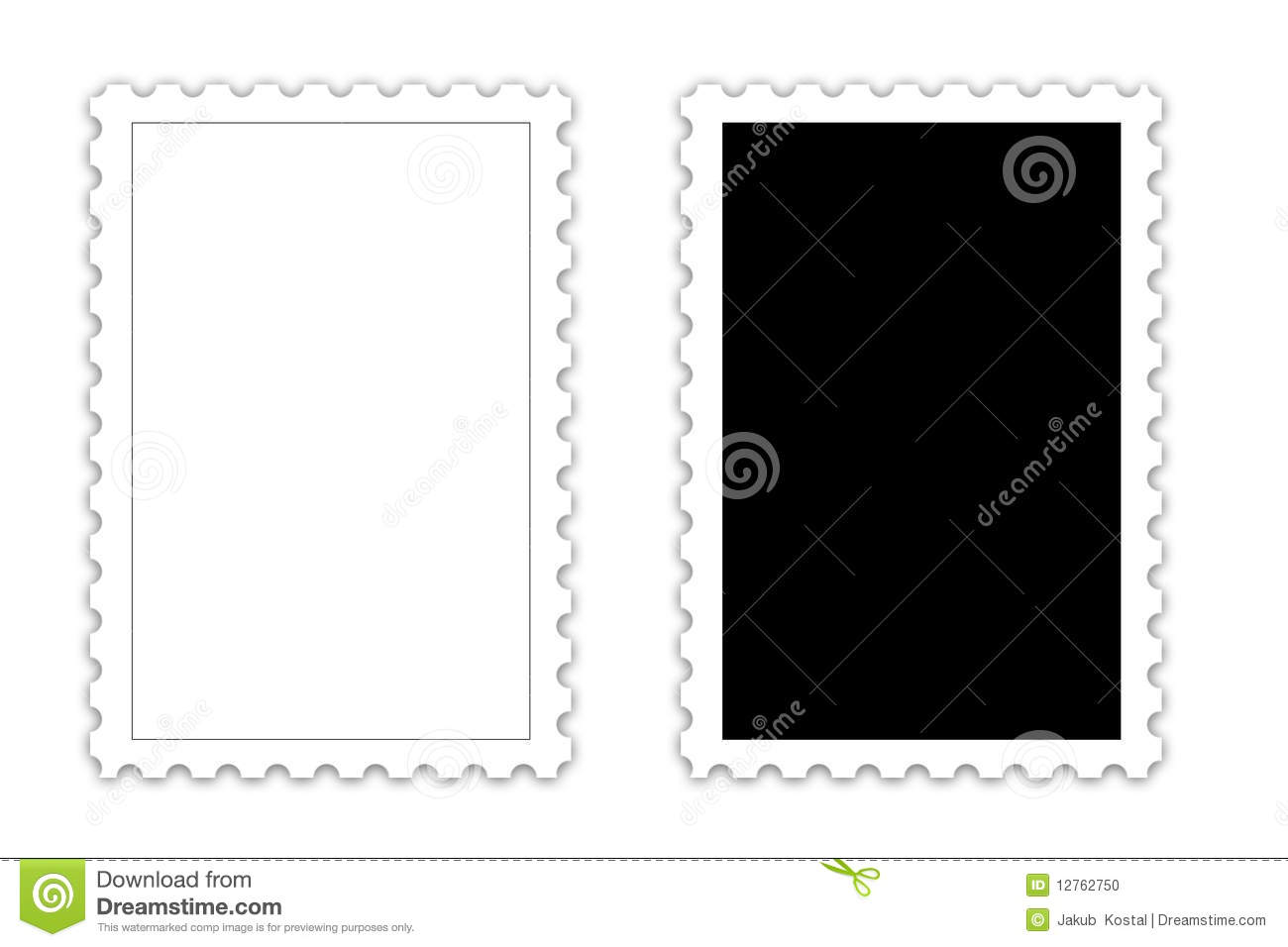 postage stamp template stock photo image 12762750. Black Bedroom Furniture Sets. Home Design Ideas