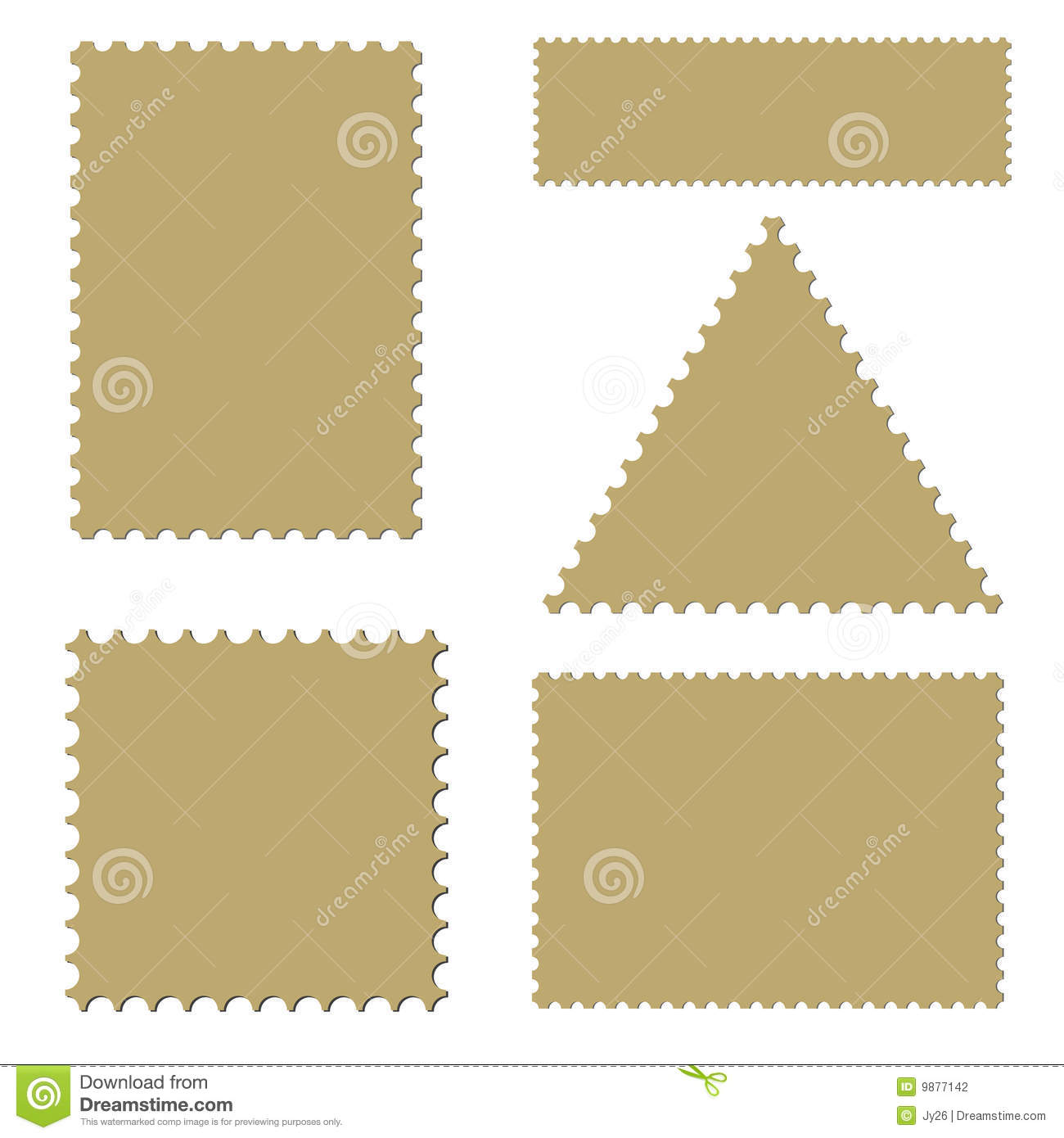 Postage template set (vector)