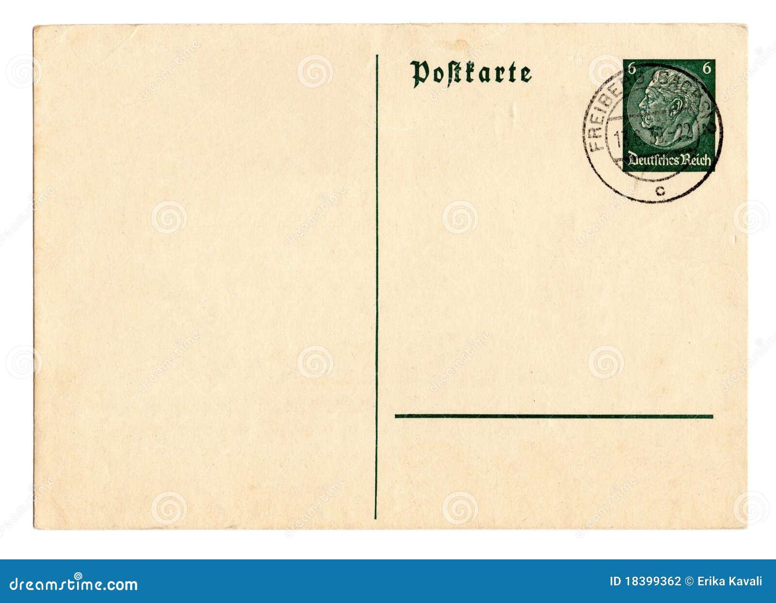 Postal alemana Hindenburg del Reich