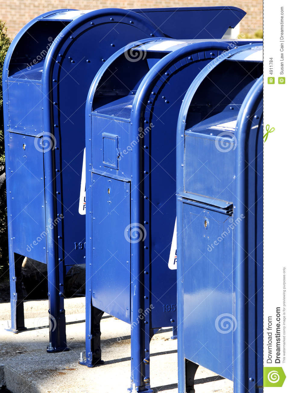 Postal Boxes in A Row