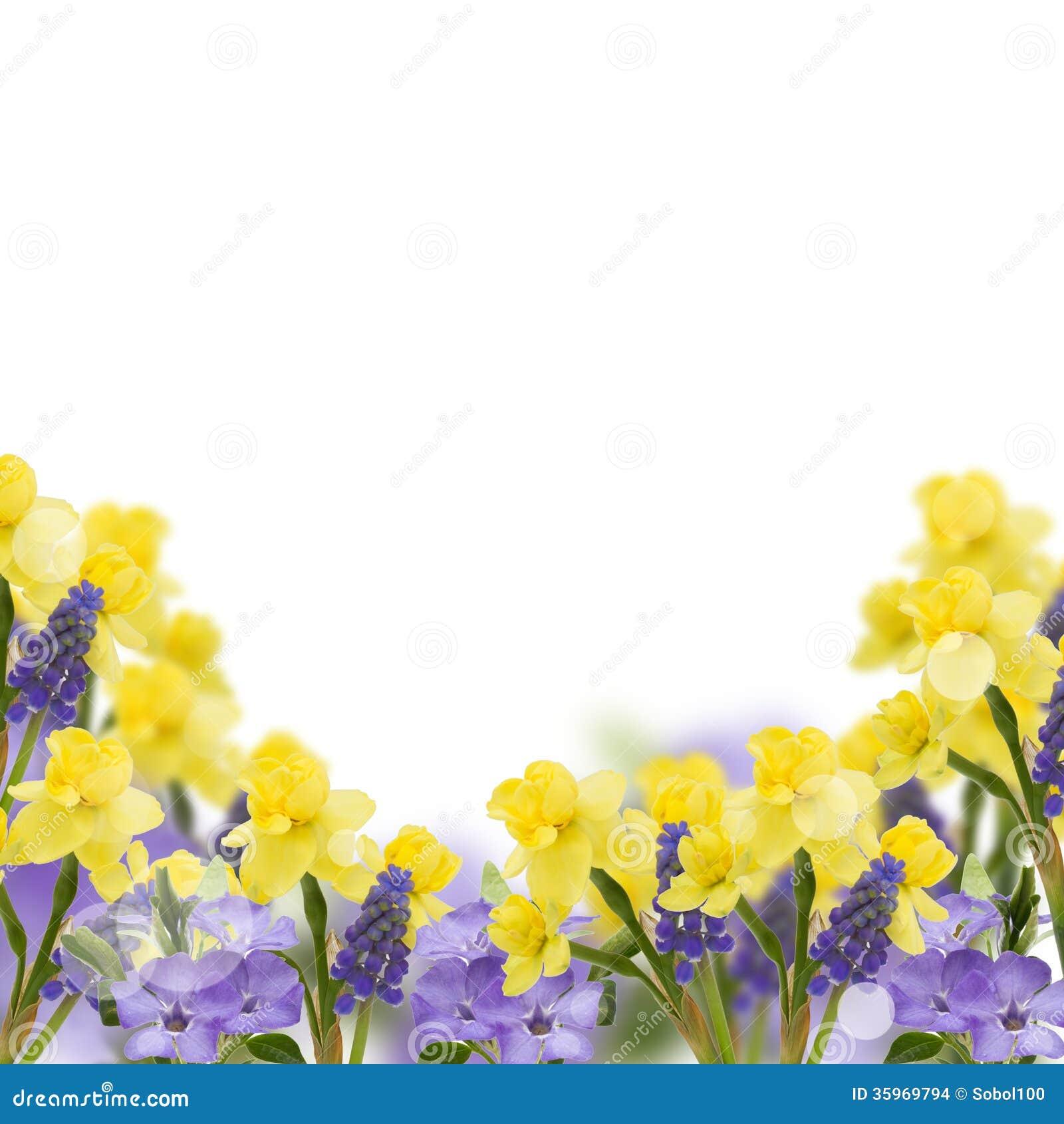Postal con las flores frescas y lugar vacío para su texto