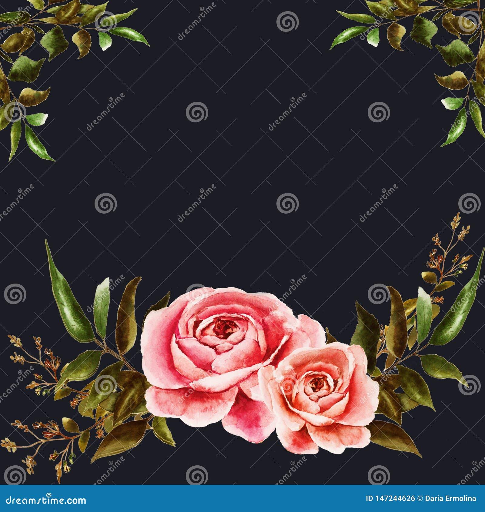 Postal con las rosas