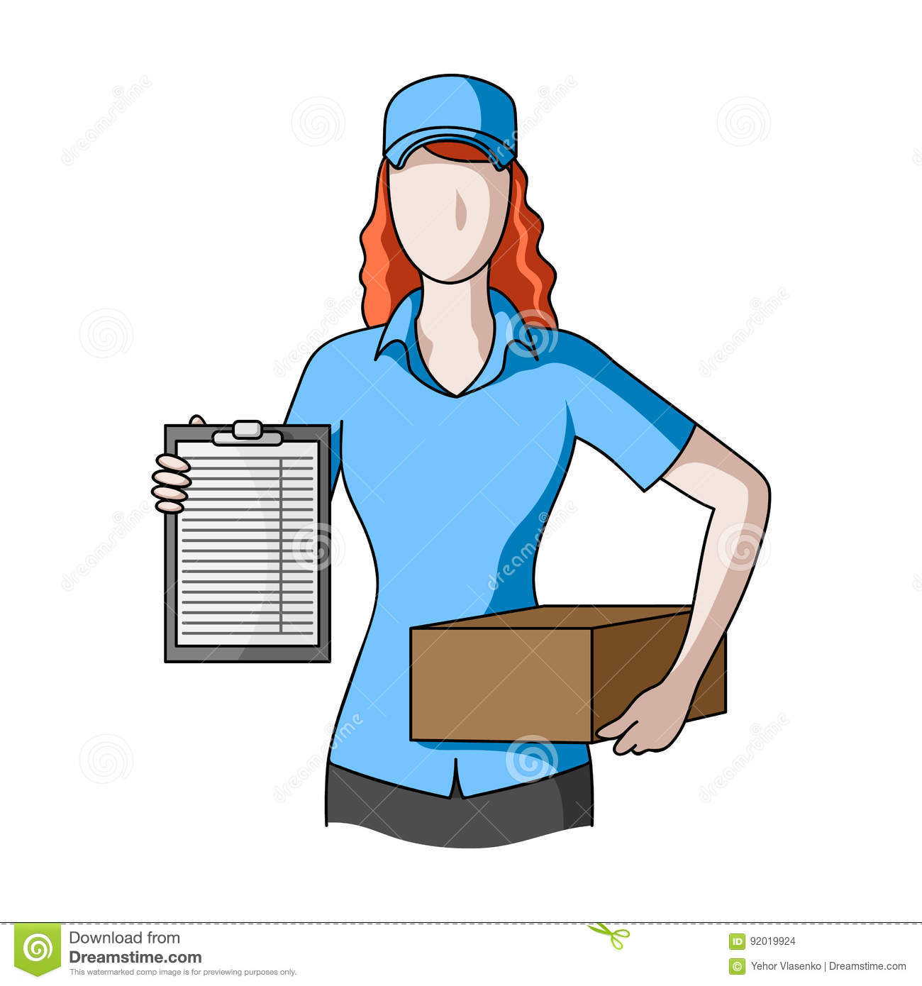 Postal Courier.Mail And Postman Single Icon In Cartoon
