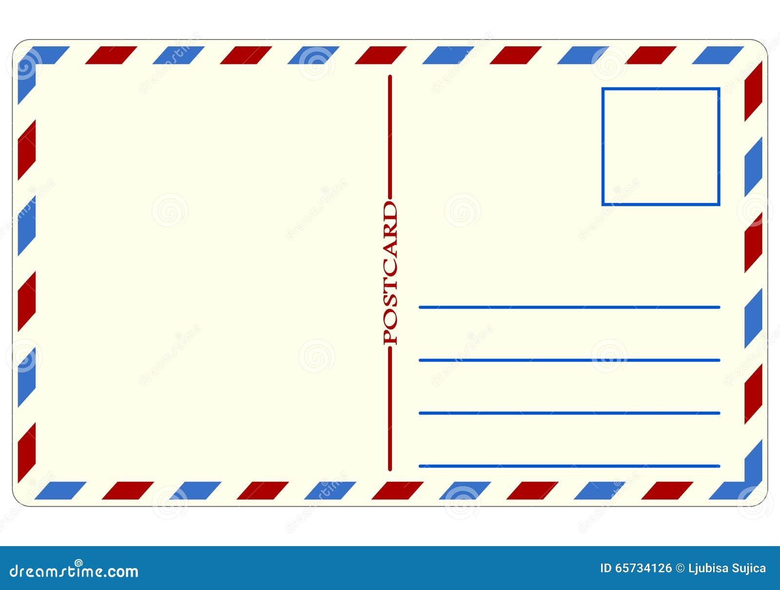 postal del viaje ejemplo ilustración del vector ilustración de