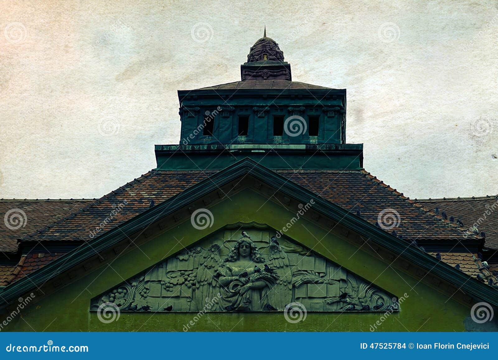 Postal vieja de un edificio histórico Timisoara 2