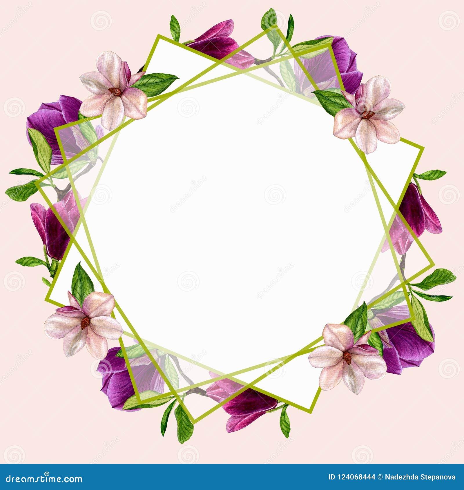 Postales con las flores de la magnolia para su dise o de - Disenos tarjetas de boda ...
