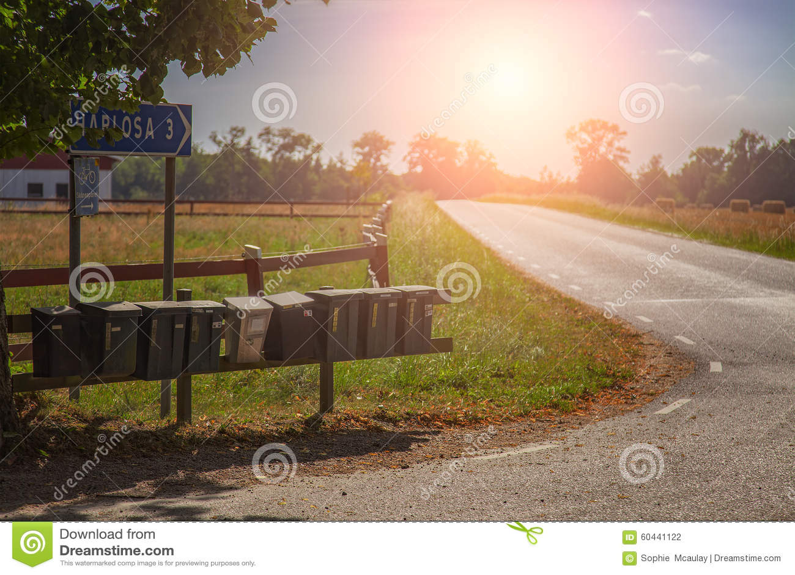 Postboxes в сельской местности