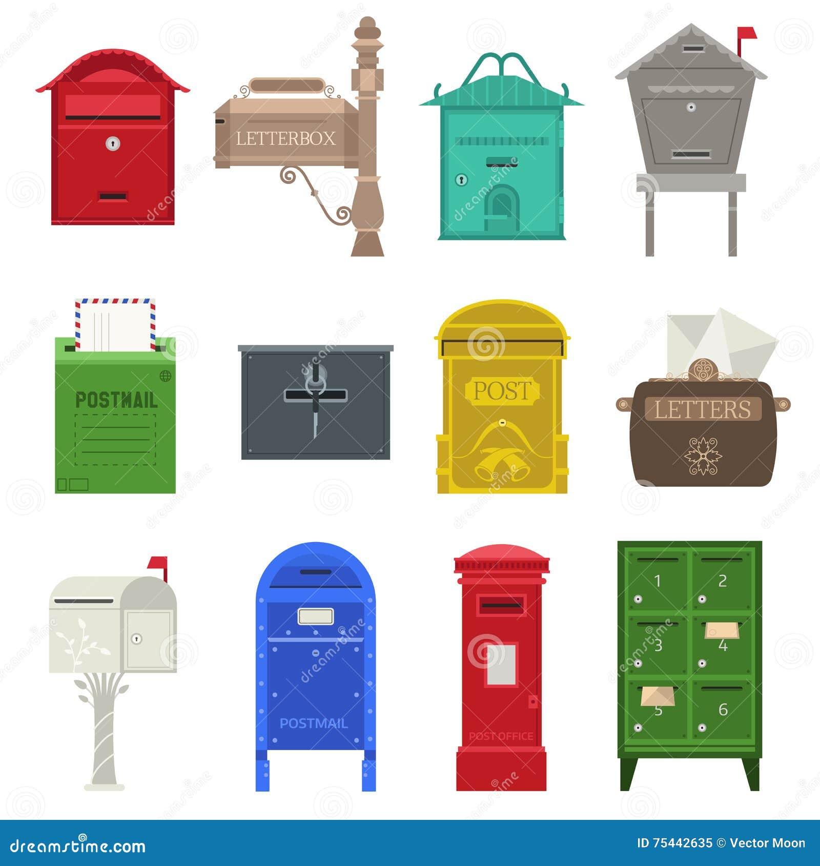 Postbrievenbus vectorreeks