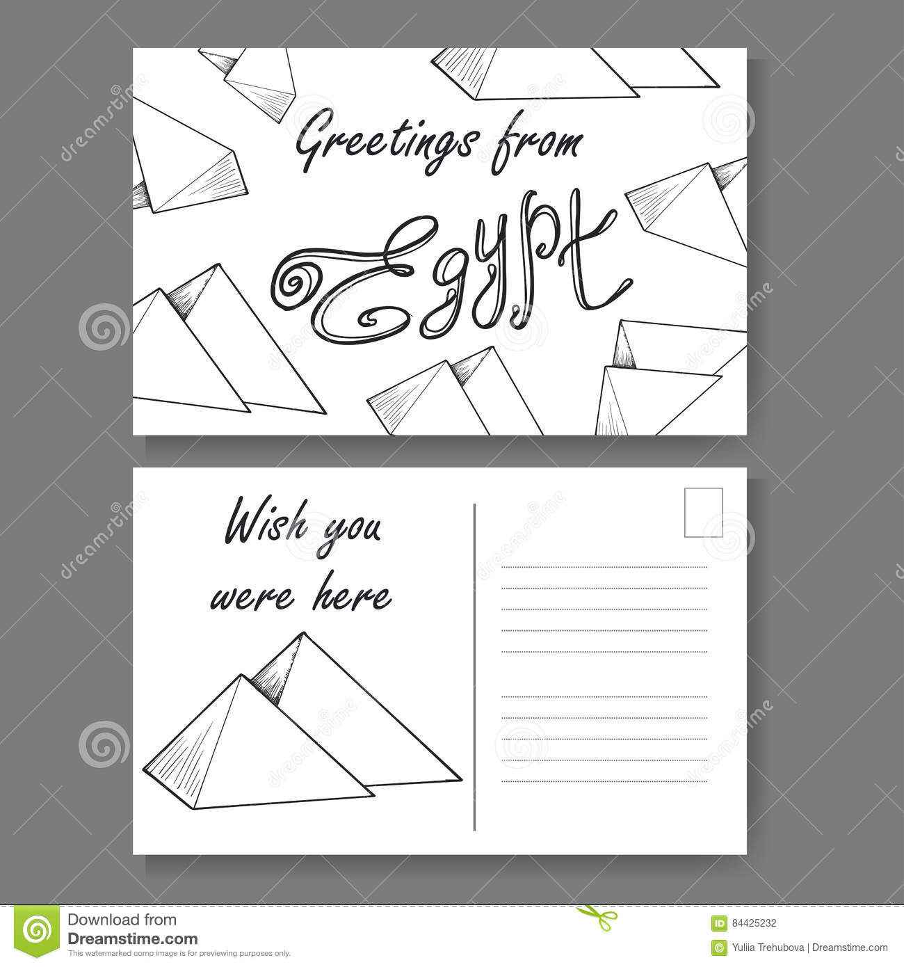 Postcard from cairo hand drawn lettering and sketch greetings from postcard from cairo hand drawn lettering and sketch greetings from egypt vector illestration architecture culture kristyandbryce Choice Image