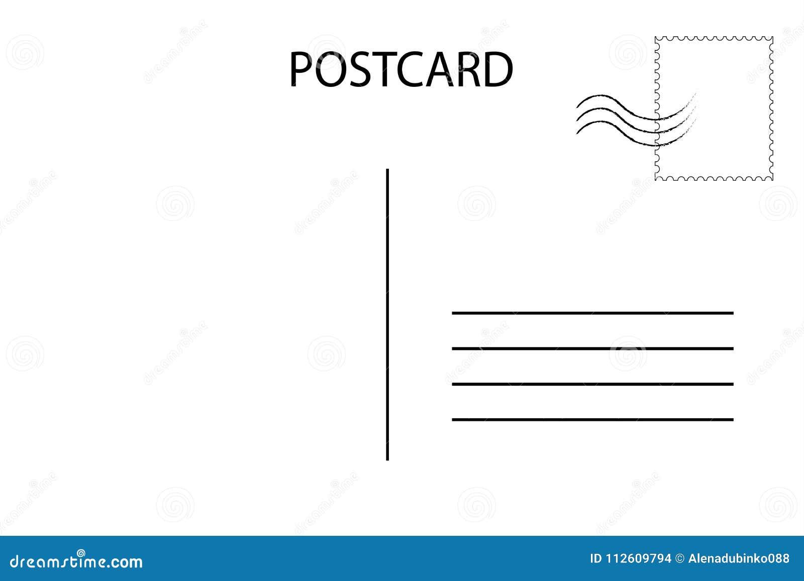 Postcard Carte postale pour le voyage Calibre vide de par avion