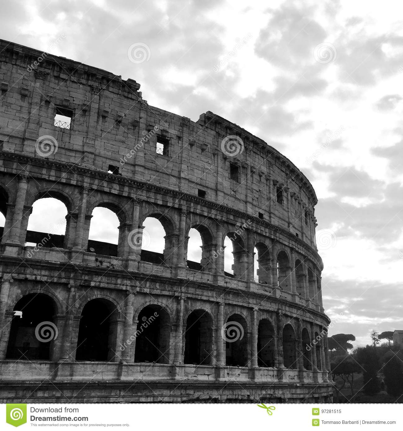 Black And White Postcard From >> Postcard From Coliseum Black And White Stock Image Image Of