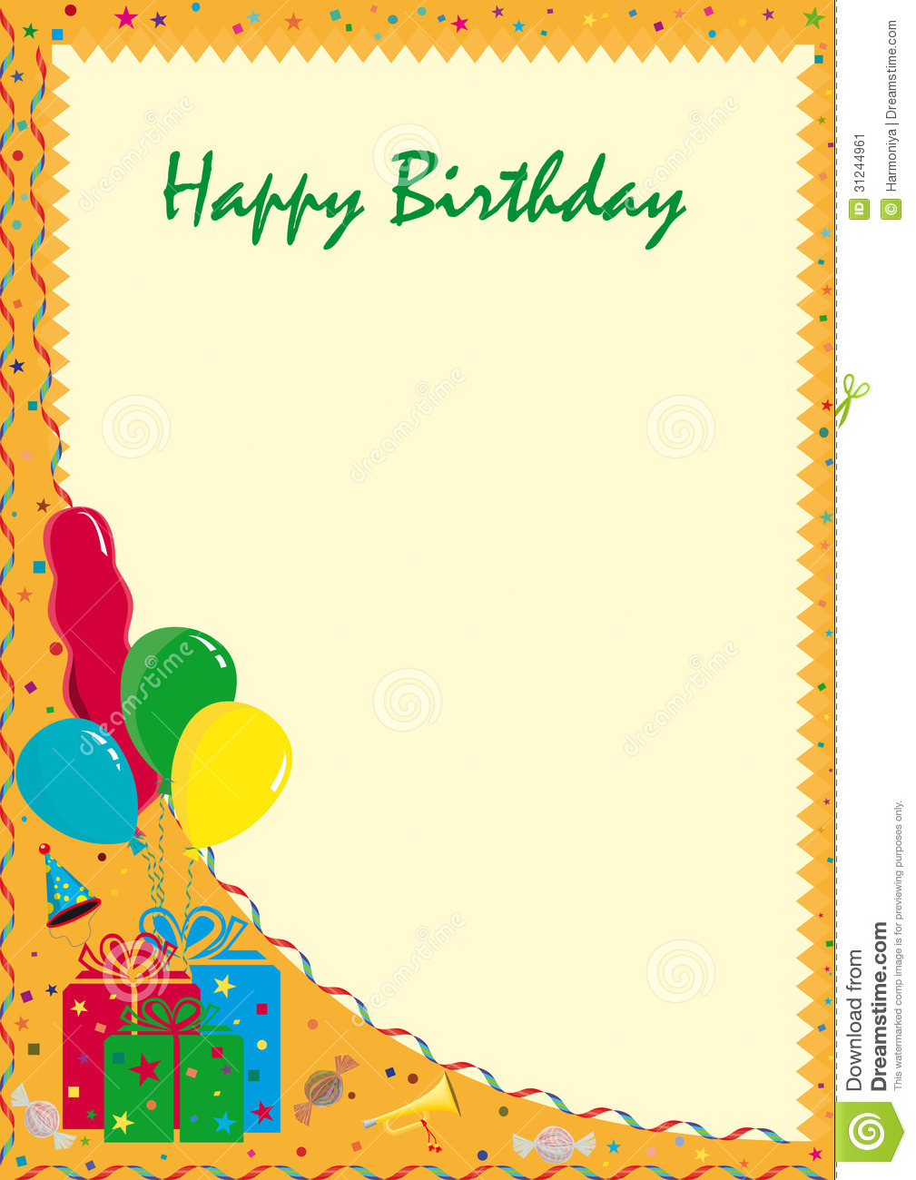 Postcard Happy Birthday Image Image 31244961 – Happy Birthday Post Cards