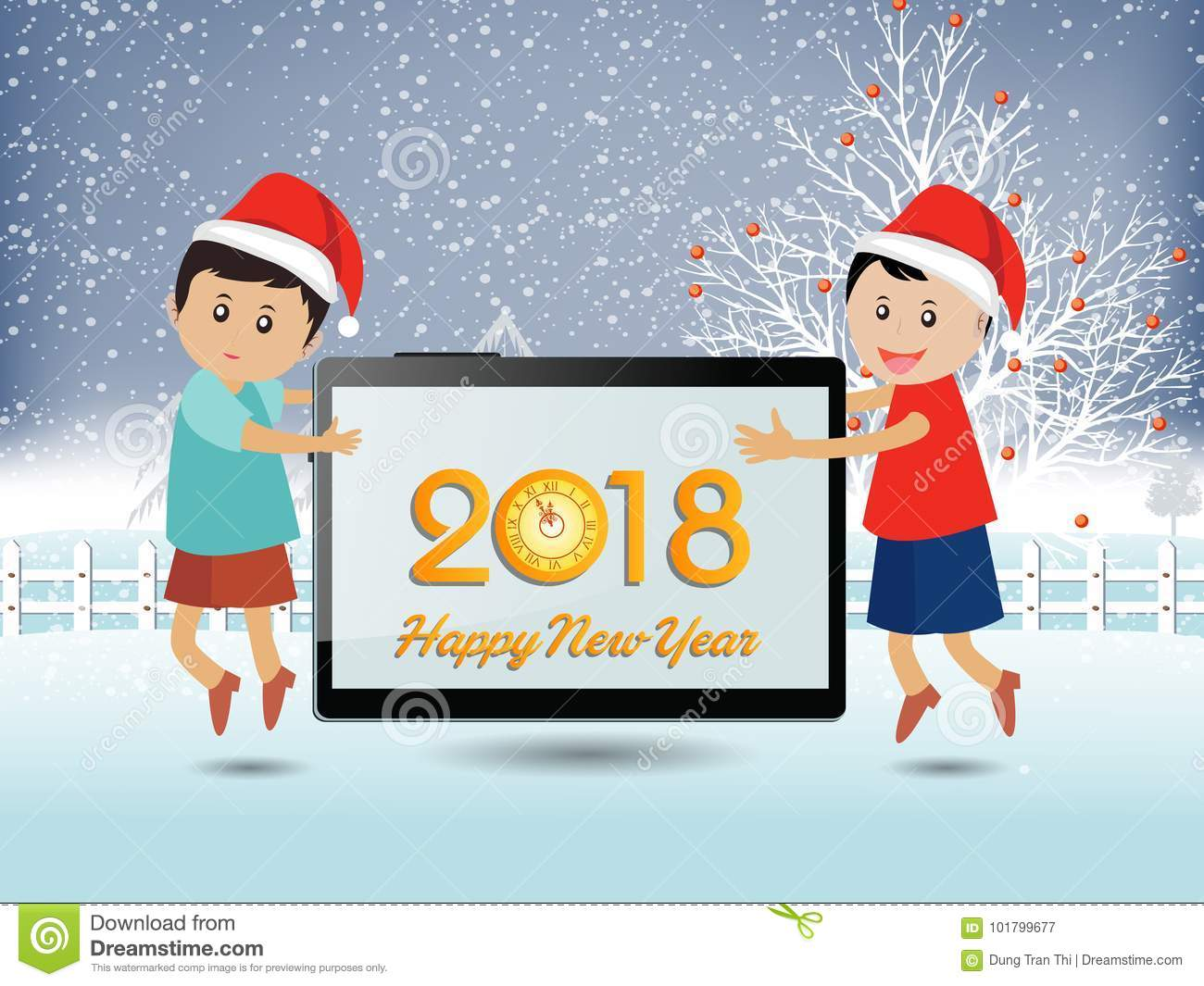 postcard happy new year 2018 and merry christmas - Merry Christmas Funny