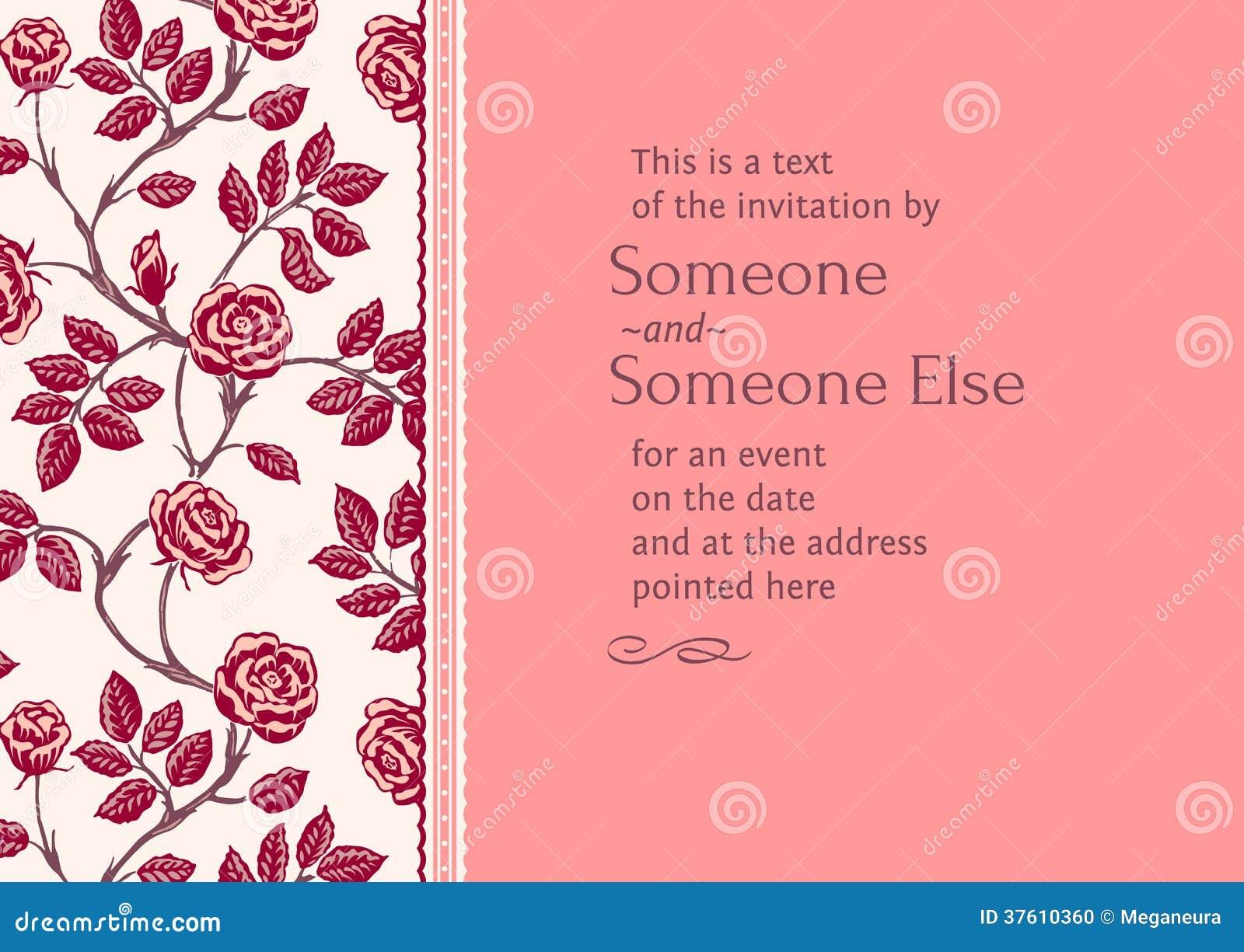 postcard invitation editable template with frame stock. Black Bedroom Furniture Sets. Home Design Ideas