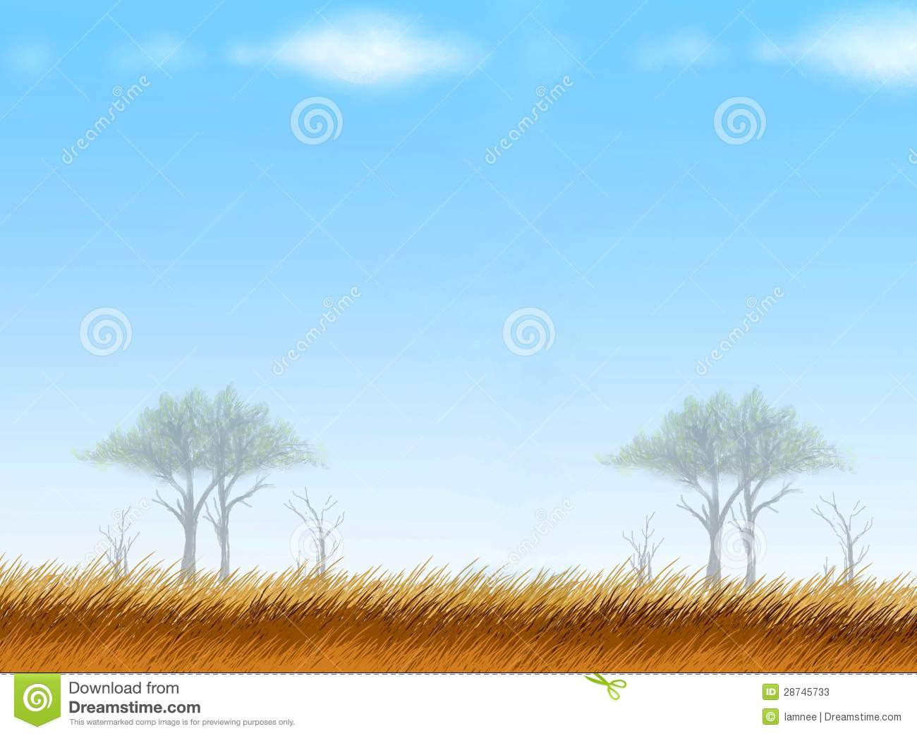 Postcard And Note Paper Of Safari Background Stock