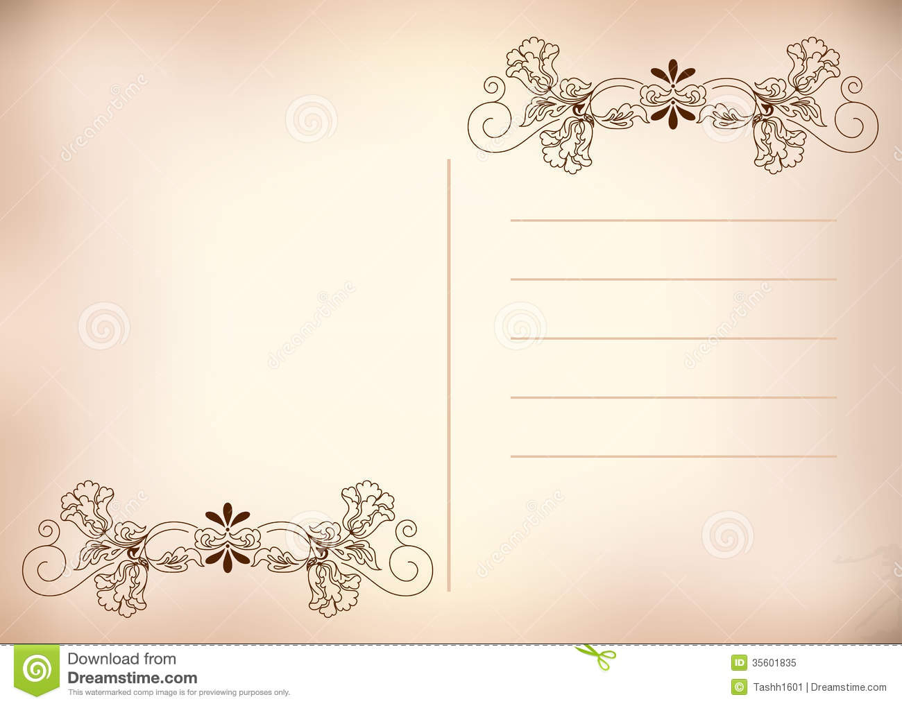 postcard pink stock image image of graphic decoration