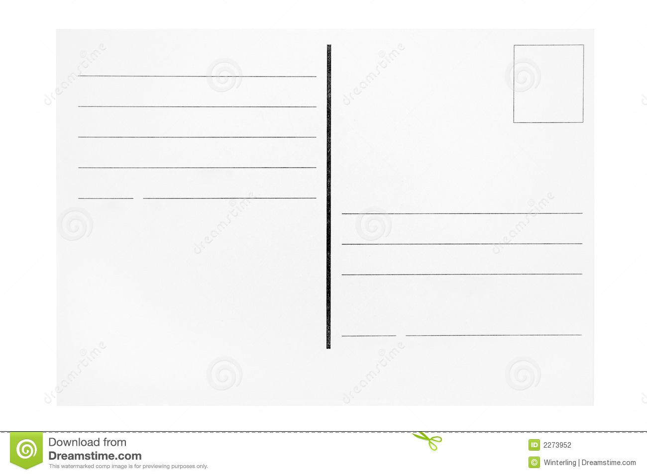 Postcard Template Stock Photo Image Of Cutout Concept 2273952