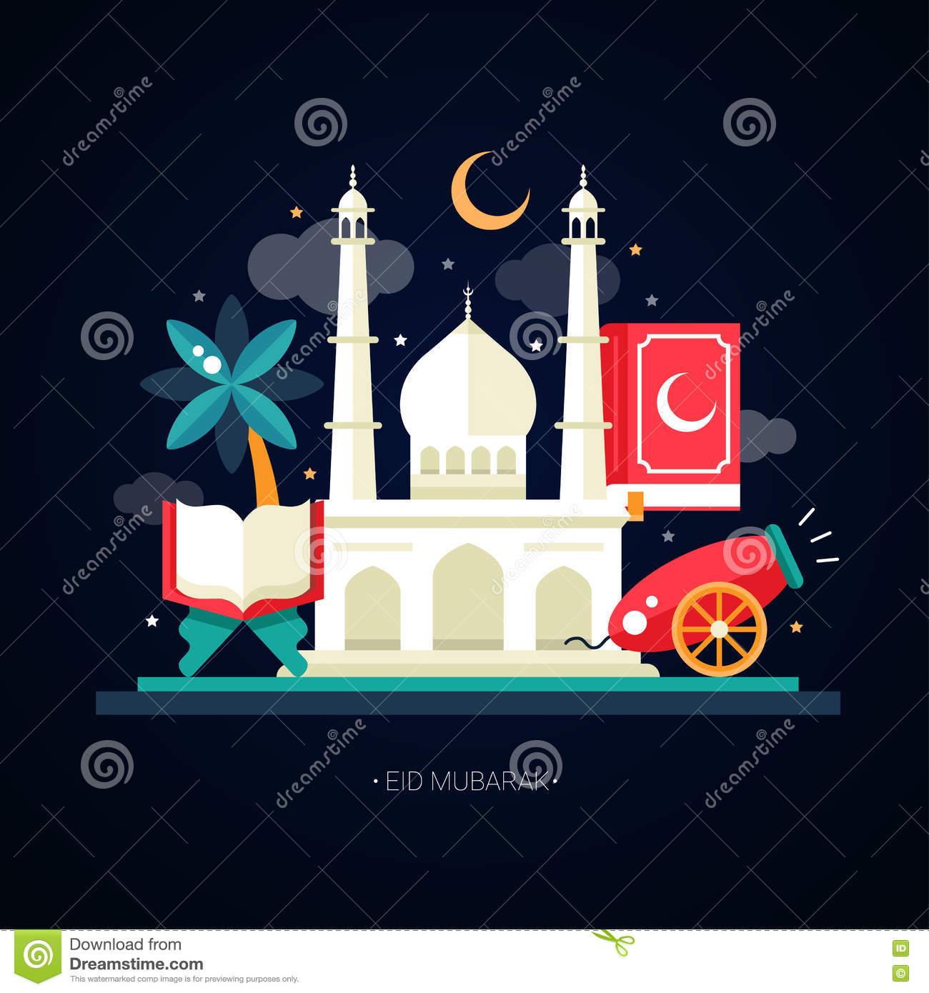 postcard template islamic culture icons stock vector image postcard template islamic culture icons royalty stock image
