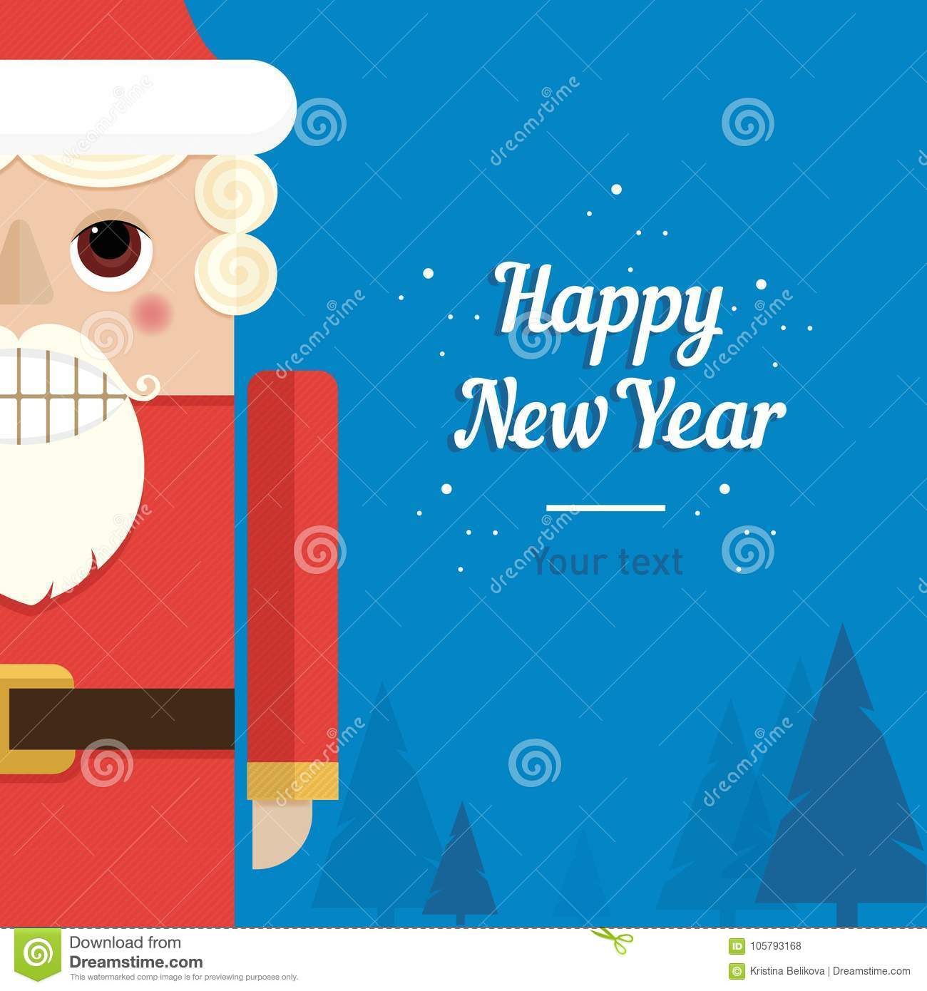 postcard template santa claus happy new year