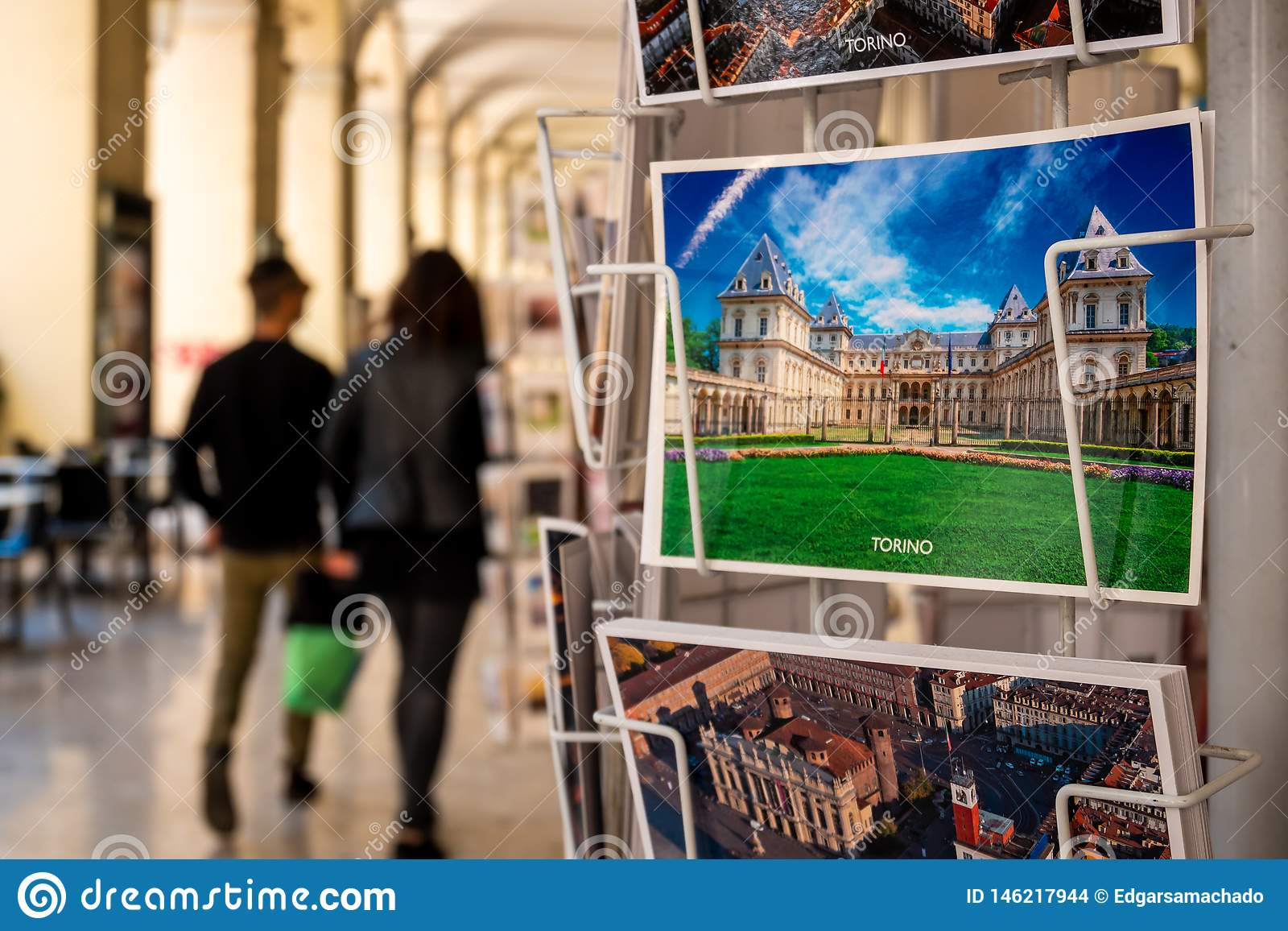 Postcard of Turin editorial stock image  Image of tourism