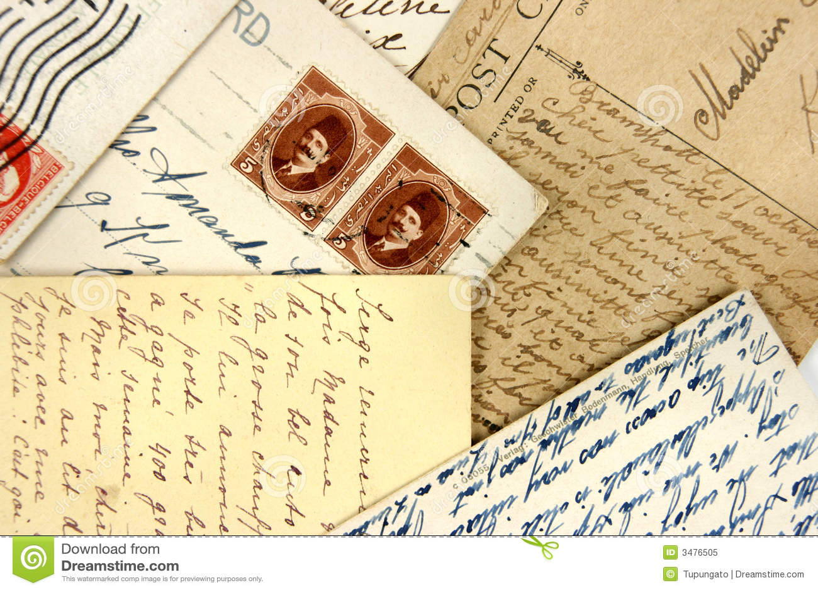 postcard paper stock
