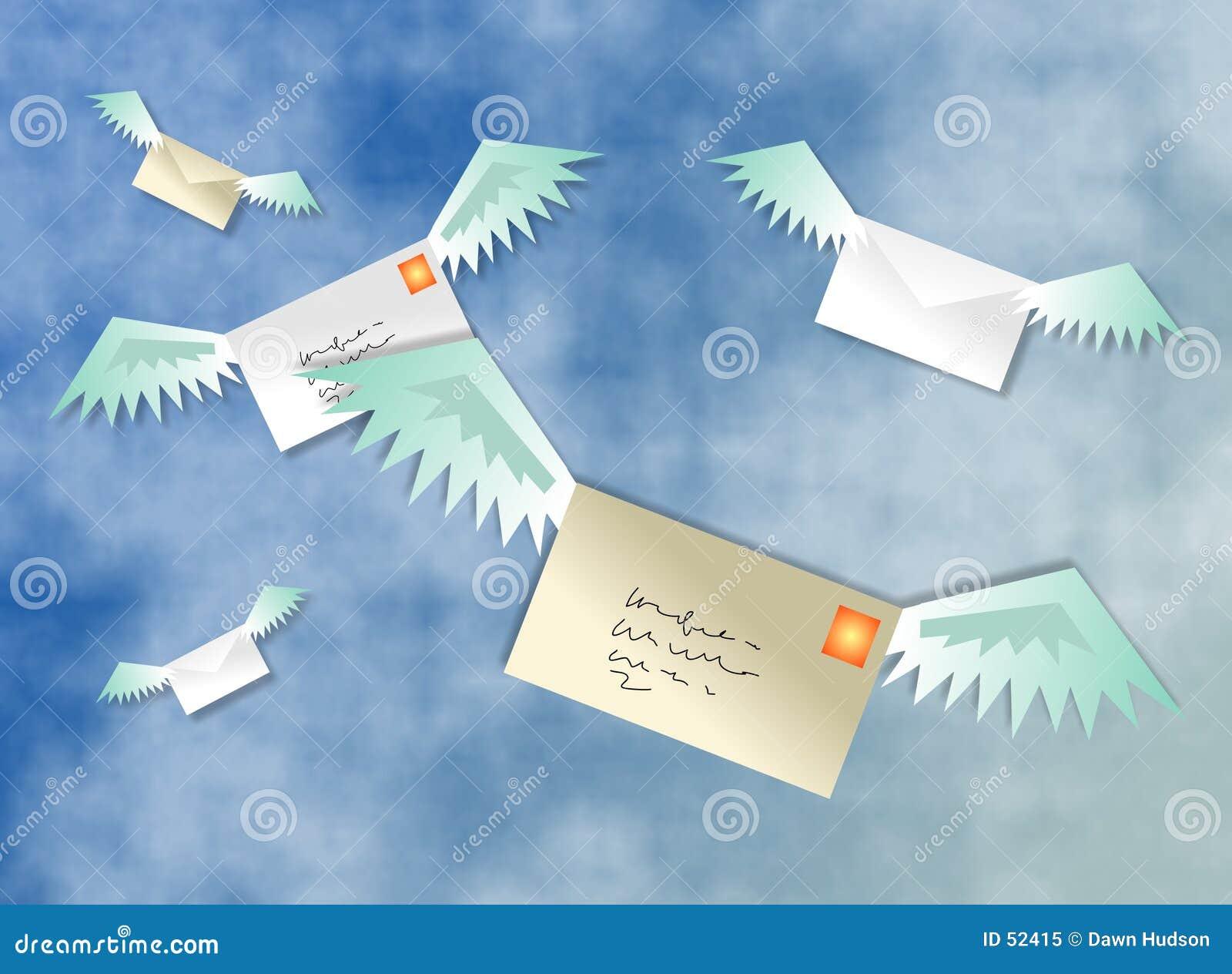 Download Poste aérienne illustration stock. Illustration du delivery - 52415