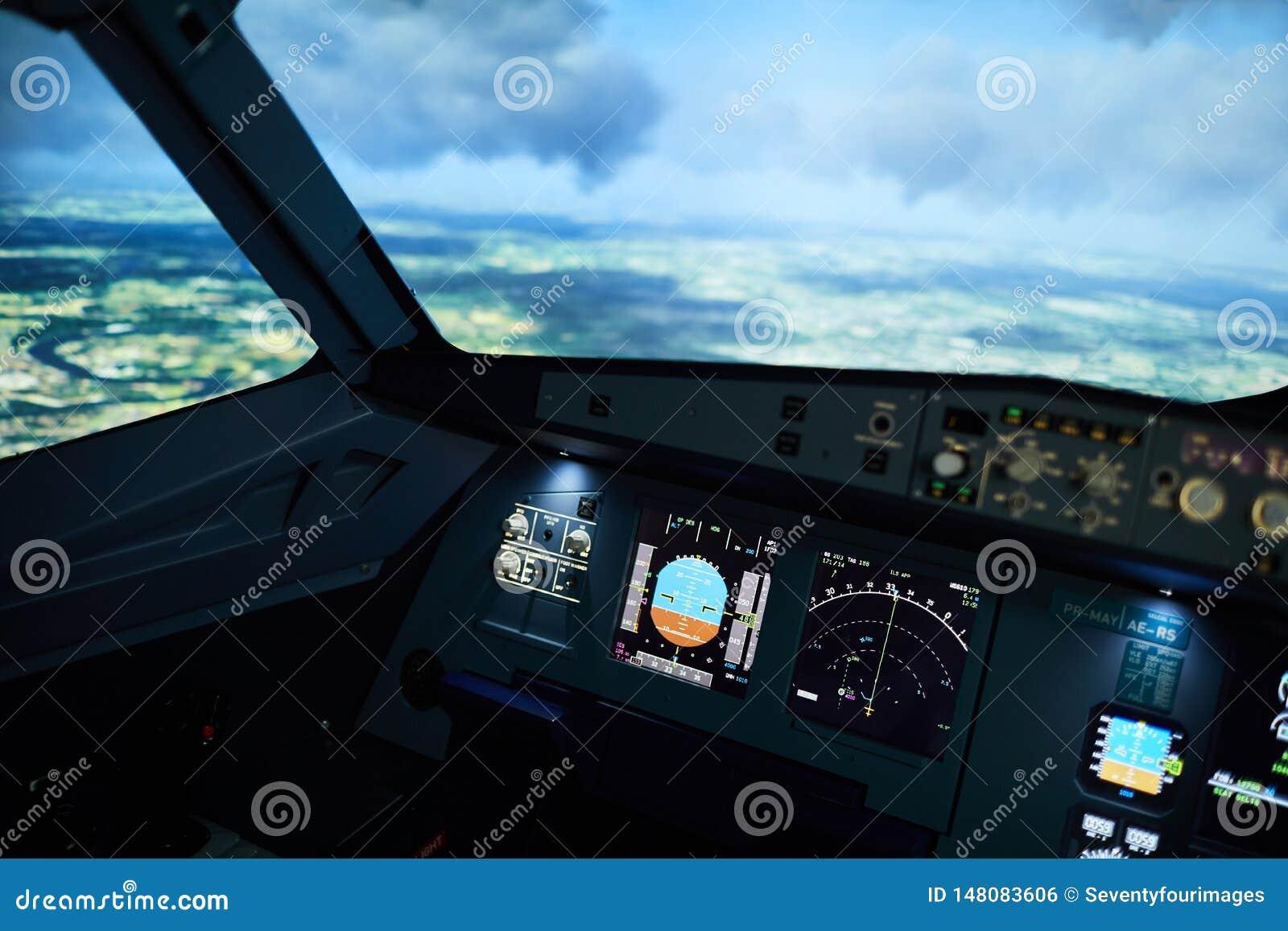 Poste de pilotage d avions