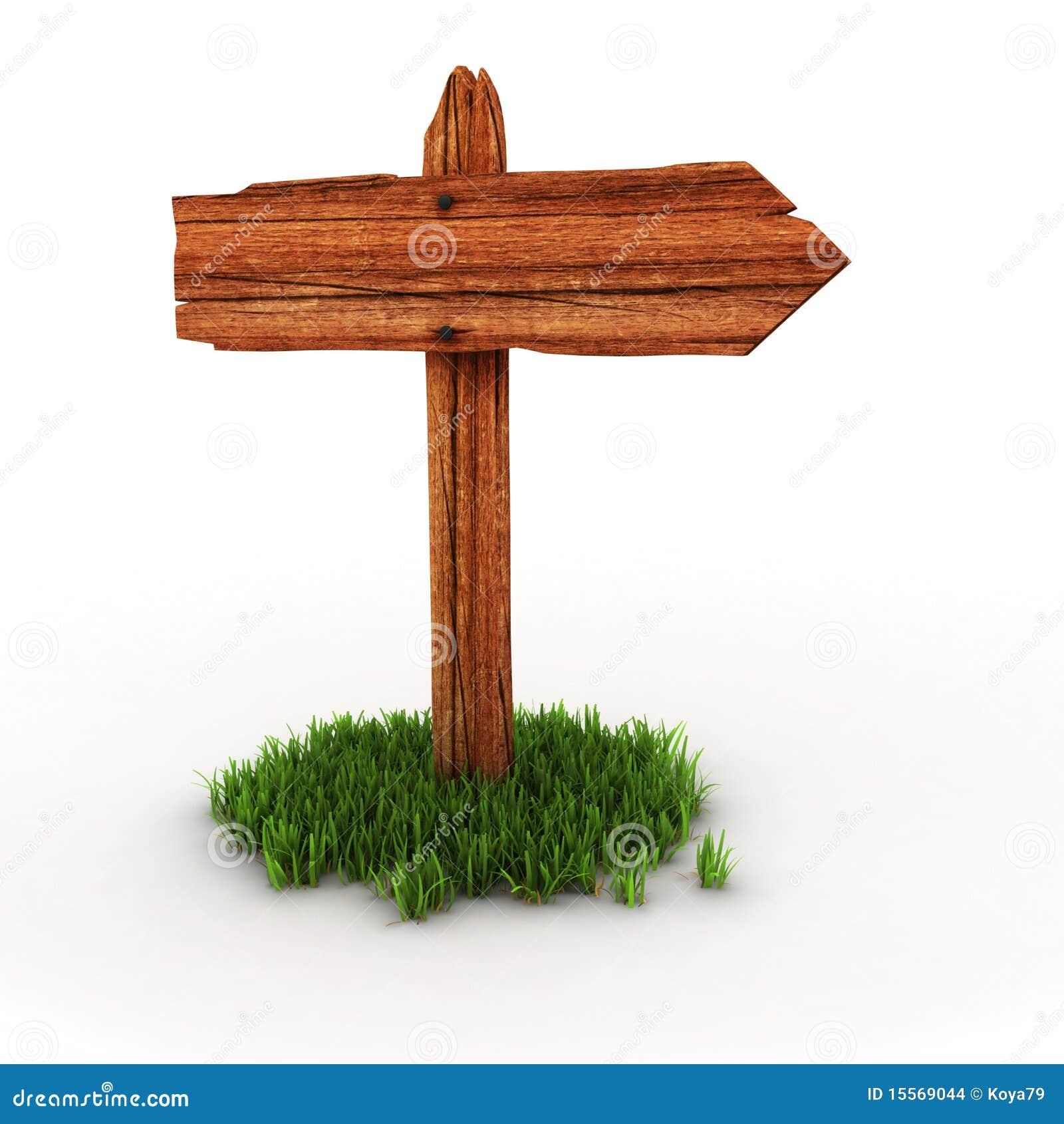 Poste indicador de madera en hierba imagenes de archivo - Postes de madera ...