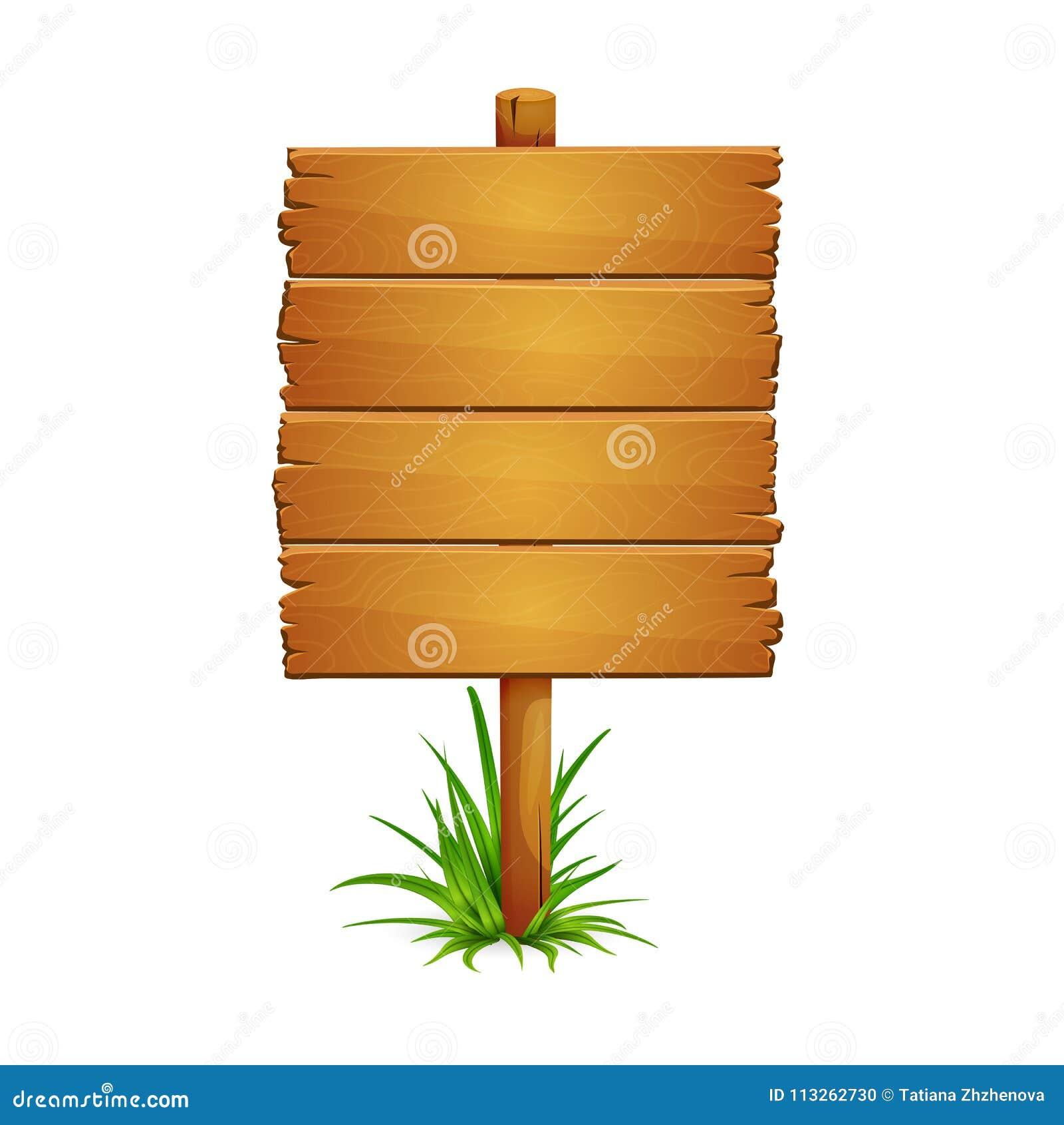 Poste indicador de madera grande