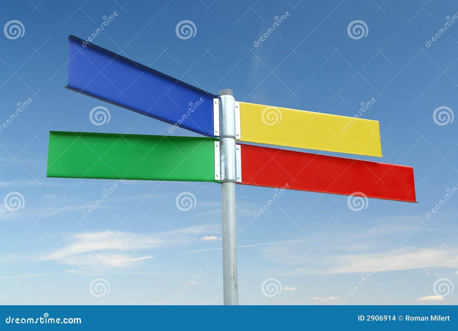 Poste indicador del color de Multway